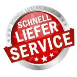 """Button mit Banner """" SCHNELLLIEFERSERVICE """""""