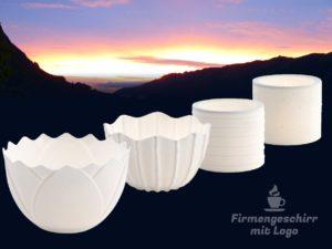 Windlicht Porzellan Weihnachtsgeschenk Werbeartikel