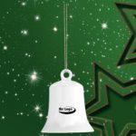 Werbeartikel Weihnachtsglocke Baumschmuck Christbaumkugel Porzellan